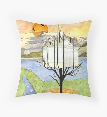 Harvest of a Glasshouse Throw Pillow