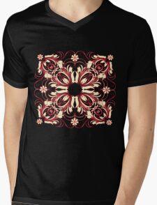 vintage pattern Mens V-Neck T-Shirt