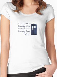 Doctor Who - Amy's Wedding Something Blue Women's Fitted Scoop T-Shirt