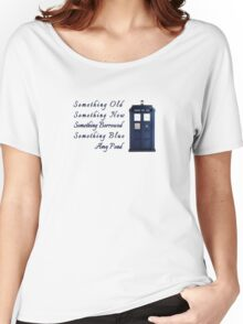 Doctor Who - Amy's Wedding Something Blue Women's Relaxed Fit T-Shirt