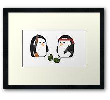 Penguin Mercenaries Framed Print