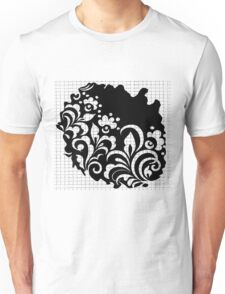 b&w flowers Unisex T-Shirt