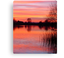 Sunset Lake  Canvas Print