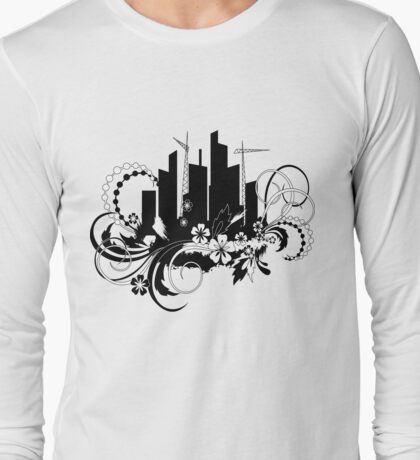 floral urban Long Sleeve T-Shirt