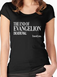 Neon Genesis Evangelion - I need you. Women's Fitted Scoop T-Shirt