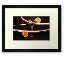 Limetini with a lemon twist Framed Print