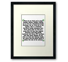 Hap, Hap, Happiest Christmas Framed Print