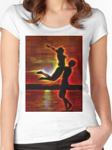 Soaring On The Sea Of Love Women's Fitted Scoop T-Shirt