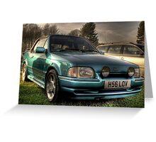 Old Skool XR3 Cabriolet Greeting Card
