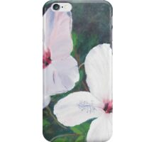 Hibiscus Flowers!  Oil on Canvas, 30 x 30 cm.  iPhone Case/Skin