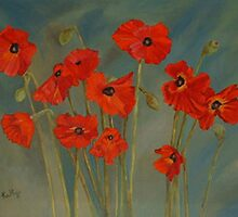 Poppies by Kathye