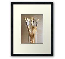 Cheap Brushes Framed Print