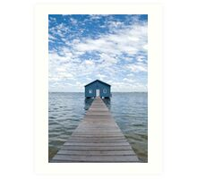 """Crawley Edge"" Boatshed, Perth, Western Australia Art Print"