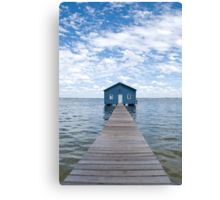 """Crawley Edge"" Boatshed, Perth, Western Australia Canvas Print"