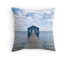 """Crawley Edge"" Boatshed, Perth, Western Australia Throw Pillow"