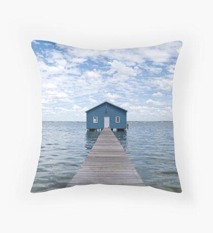 """""""Crawley Edge"""" Boatshed, Perth, Western Australia Throw Pillow"""