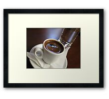 A cup of strong Greek Coffee Framed Print