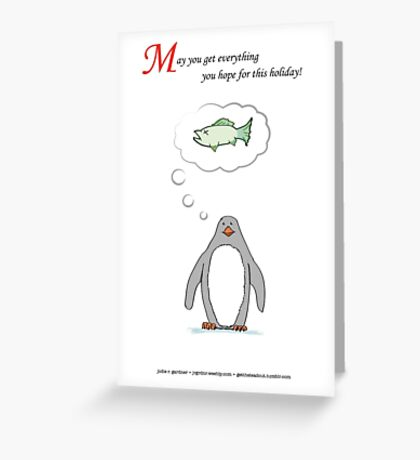 Penguin Holiday Cards Greeting Card