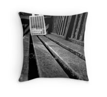 The Butcher Grill Bench Throw Pillow