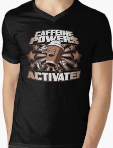 Caffeine Powers... Activate! Mens V-Neck T-Shirt