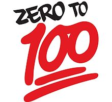 Zero to 100 by themarvdesigns