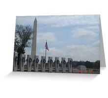 Washington Memorial  Greeting Card