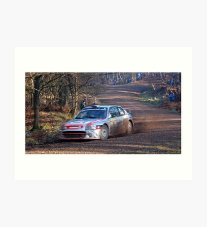 hyundai coupe rally car Art Print