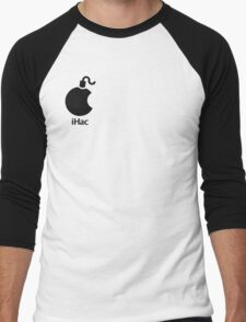 iHac(k) - Black Artwork Men's Baseball ¾ T-Shirt