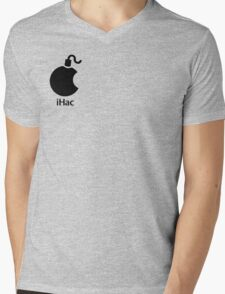 iHac(k) - Black Artwork Mens V-Neck T-Shirt