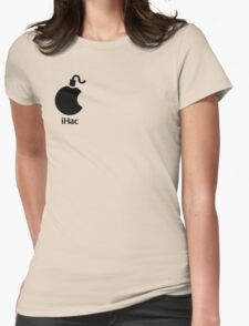 iHac(k) - Black Artwork Womens Fitted T-Shirt