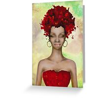 Crazy Red Hair morning Greeting Card