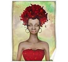 Crazy Red Hair morning Poster