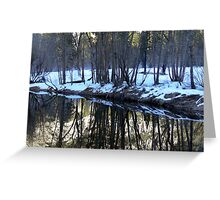 Reflections in the Merced 1 Greeting Card