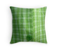 GREEN MAN SHIRT BUTTON  Throw Pillow