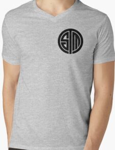 TSM Cloudy Grey Mens V-Neck T-Shirt