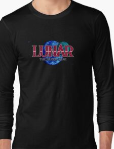 Lunar The Silver Star (Sega CD) Title Screen Long Sleeve T-Shirt
