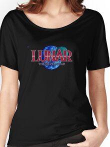 Lunar The Silver Star (Sega CD) Title Screen Women's Relaxed Fit T-Shirt