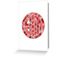 Team Solo Mid Red Clouds Greeting Card