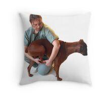 VET DOG FOOT BOXER  Throw Pillow