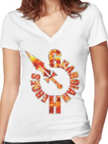 Guardian Heroes (Sega Saturn) Title Screen Women's Fitted V-Neck T-Shirt