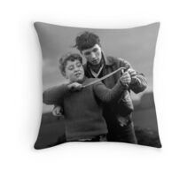 Catapult lesson Throw Pillow