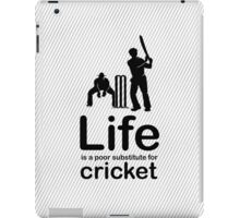 Cricket v Life - Black Graphic iPad Case/Skin