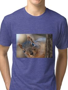 If I get any closer I'm gonna smudge your lens! Tri-blend T-Shirt