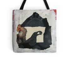 """Raven's Treasure"", Mixed media Collage Tote Bag"