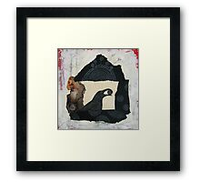 """Raven's Treasure"", Mixed media Collage Framed Print"