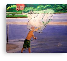 Collecting Bait Canvas Print