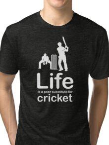 Cricket v Life - White Graphic Tri-blend T-Shirt