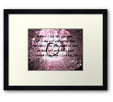 I Love But Thee Framed Print