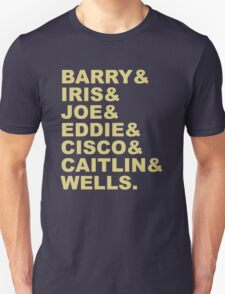 The Flash (Fandom Names) Unisex T-Shirt