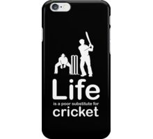 Cricket v Life - White Graphic iPhone Case/Skin
